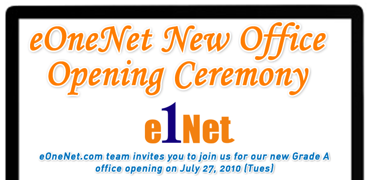 Internet Marketing Malaysia New Office Grand Opening invitation