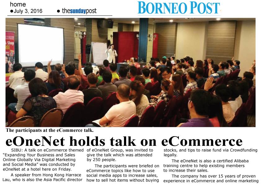 eOneNet holds talk on eCommerce
