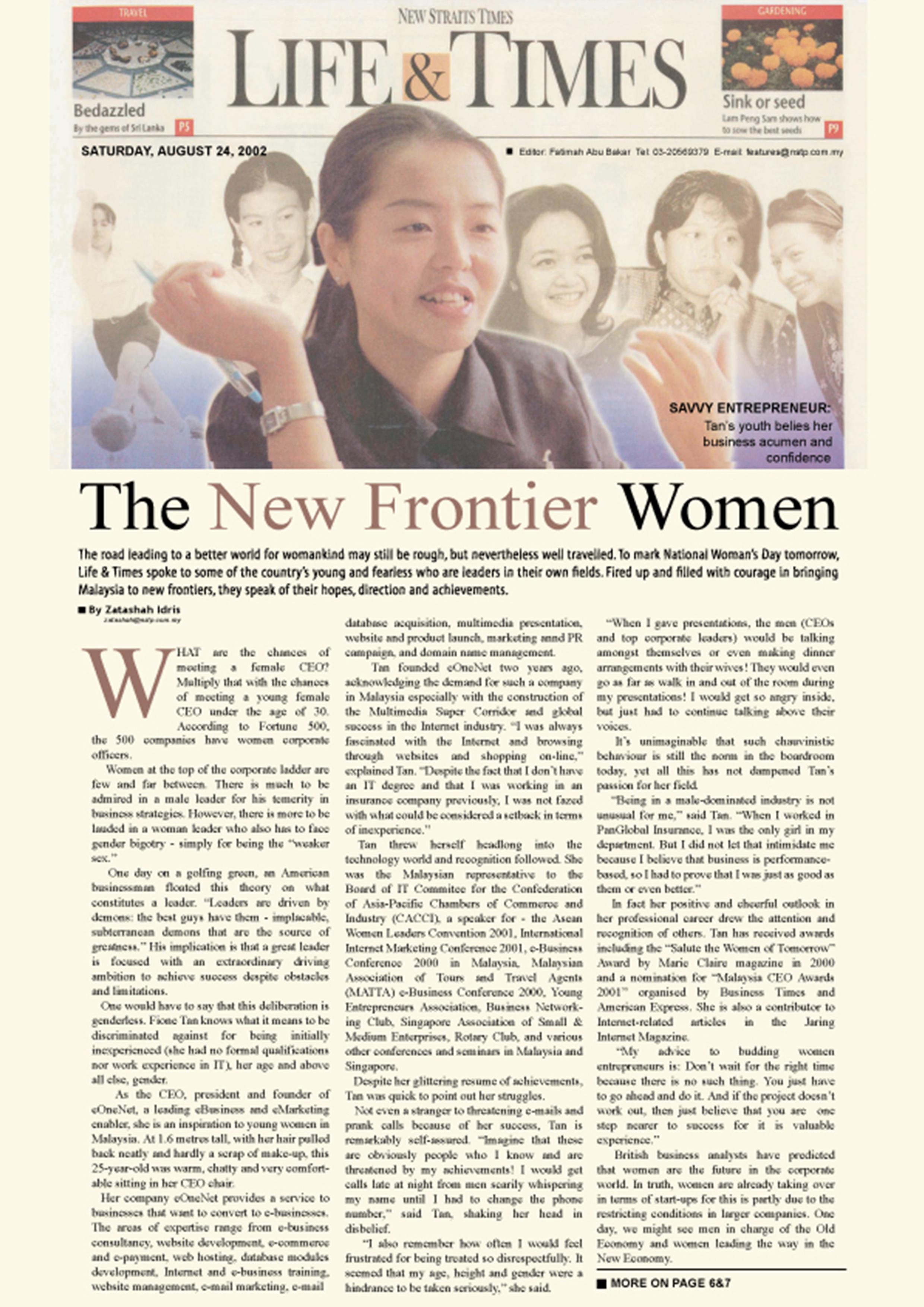 The New Frontier Women