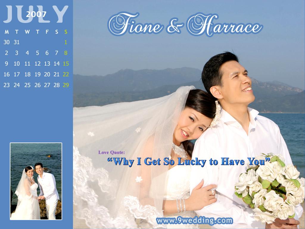 July Wedding Wallpaper