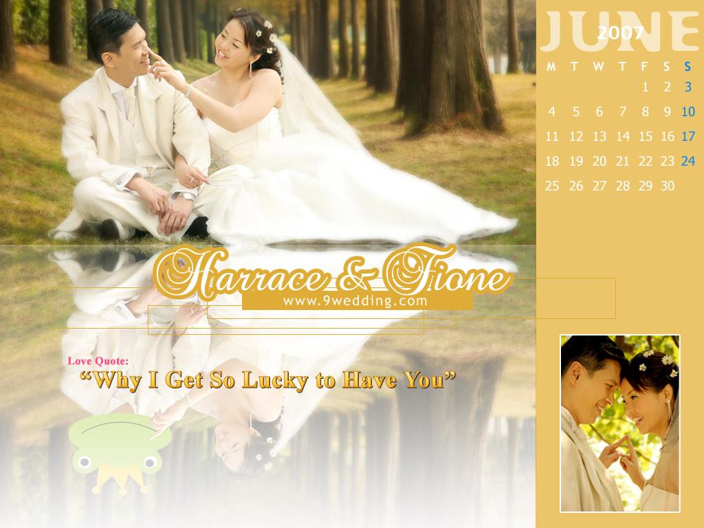 June Wedding Wallpaper